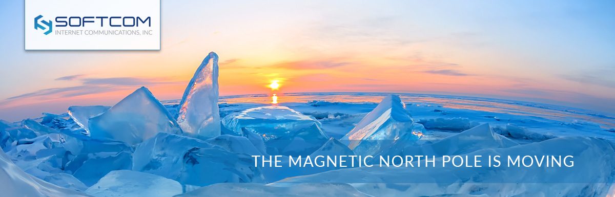 The magnetic North Pole is moving